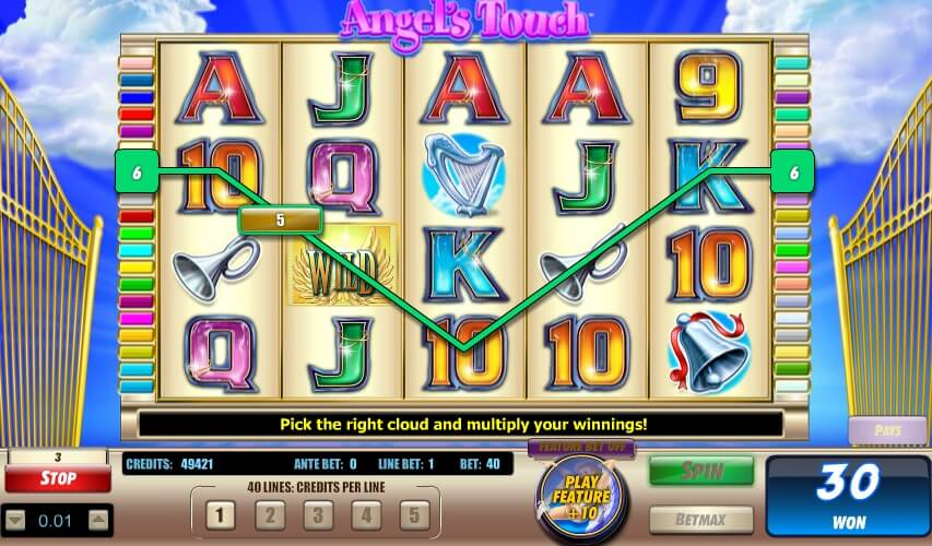 Payline While Playing   Angel's Touch